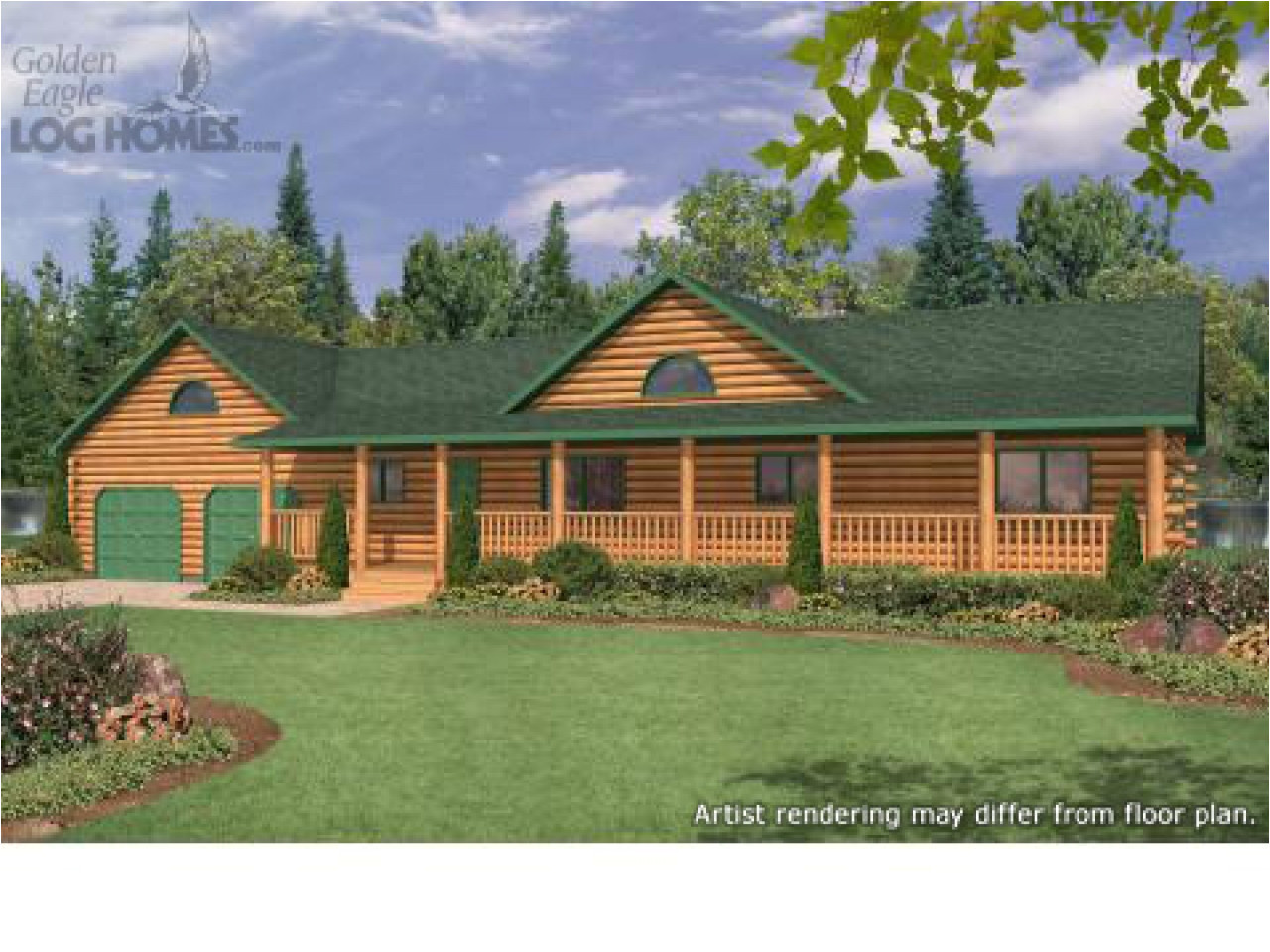 ranch style log cabin floor plans
