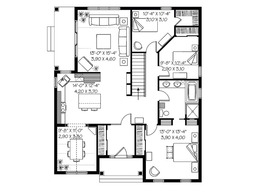 3 bedroom low cost house plans