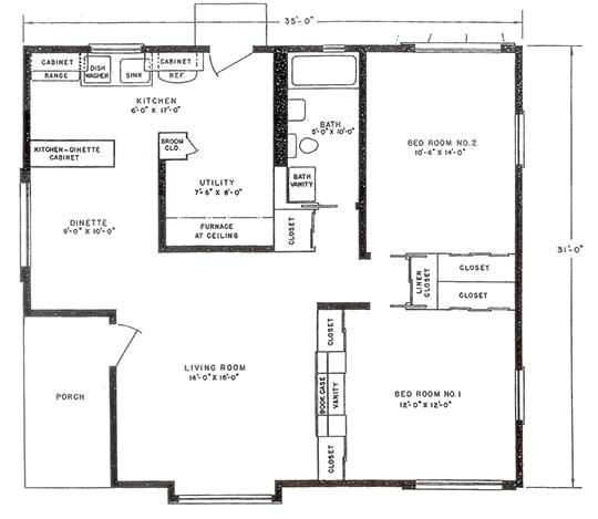 Lustron Homes Floor Plans Lustron Floor Plan Bluff View House