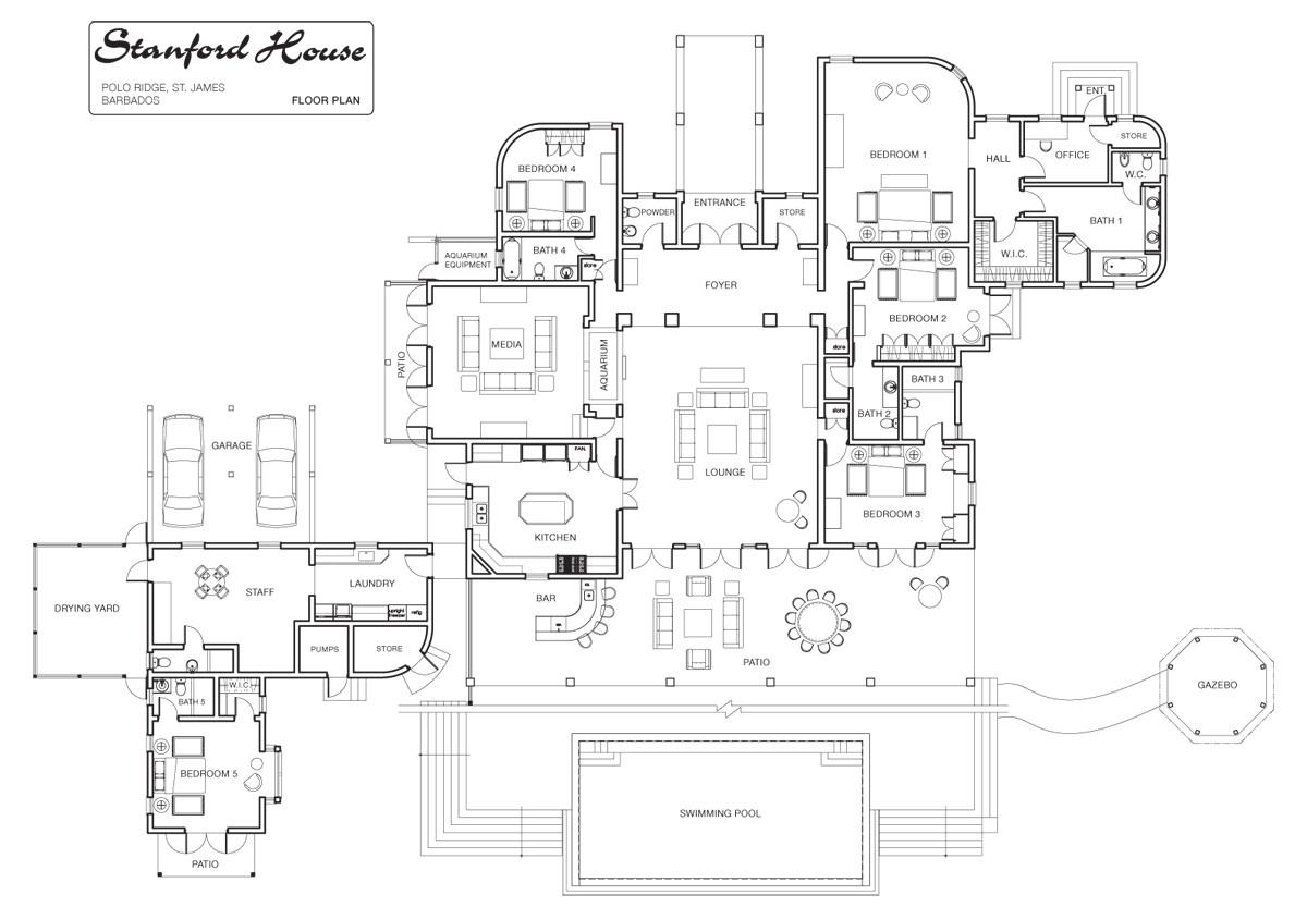 luxury estate floor plans