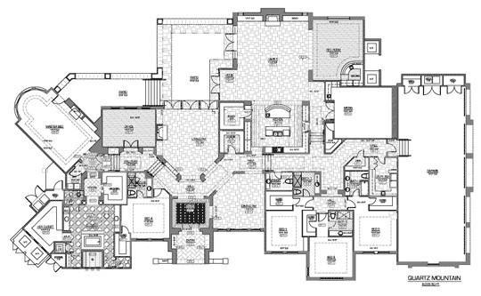 luxury estate home floor plans