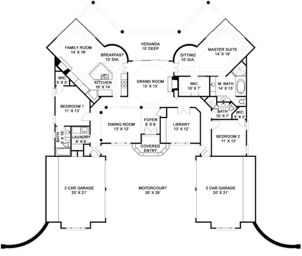 luxury home designs plans floor plan with 2 car garages