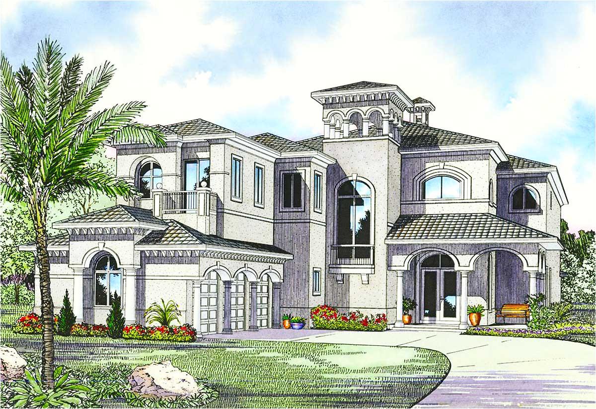 luxury mediterranean house plan 32058aa