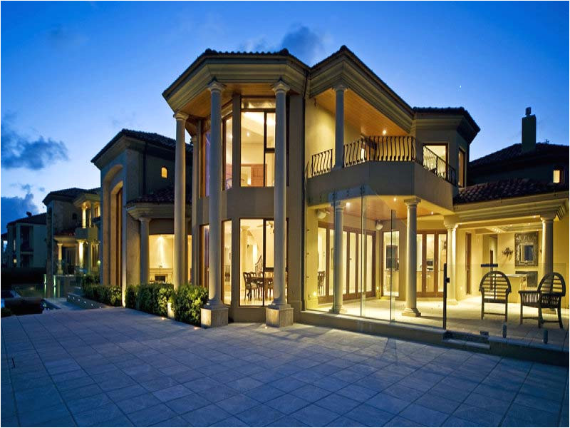 few luxury mansions
