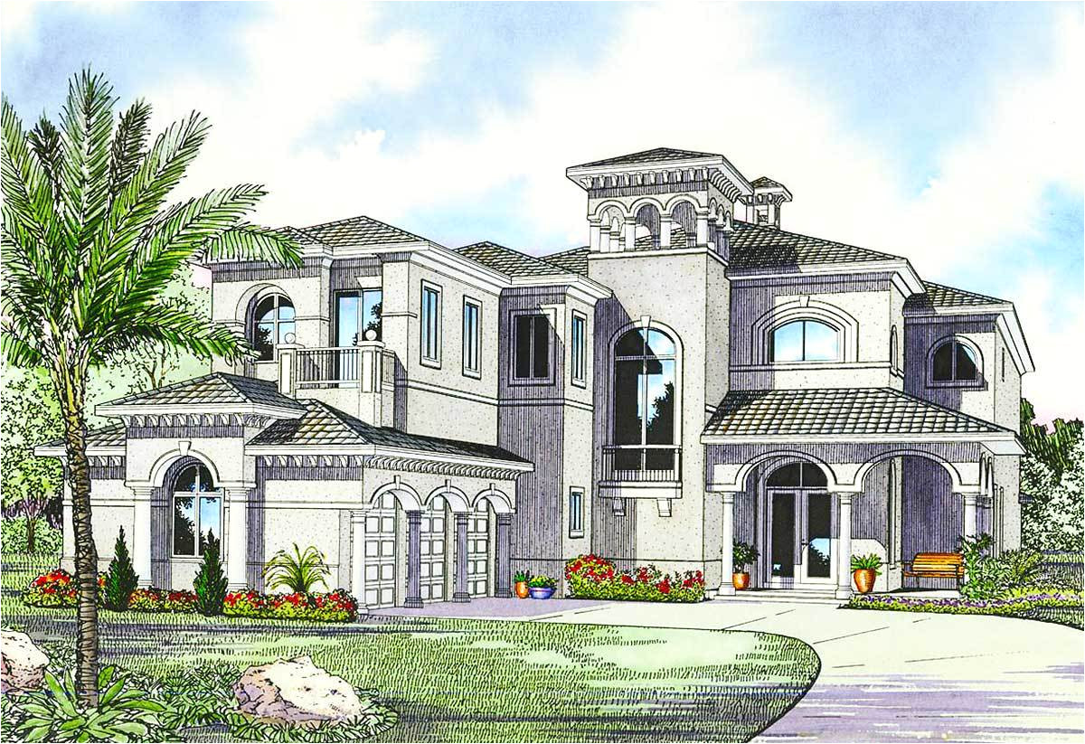luxury mediterranean house plan 32058aa