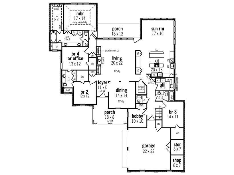 one story house plans with upstairs bonus room