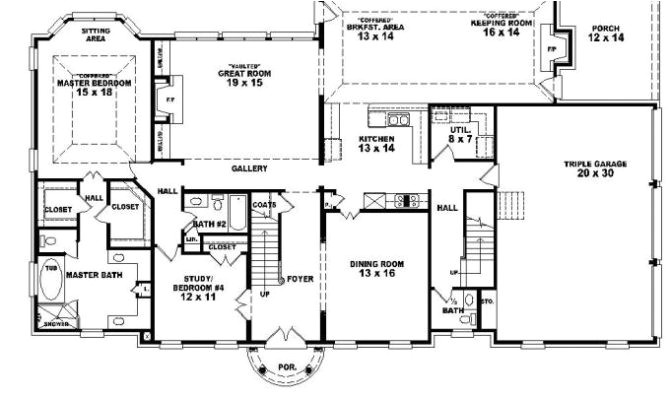 8 beautiful one story house plans with bonus room