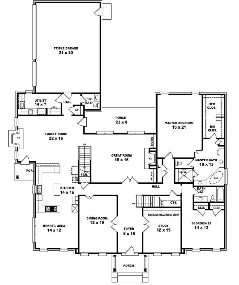 luxury one story house plans with bonus room