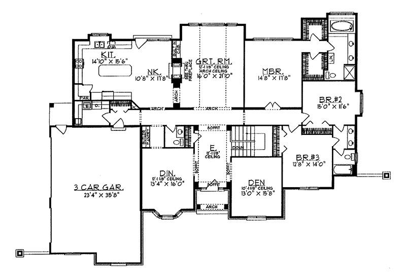 24 wonderful luxury ranch floor plans
