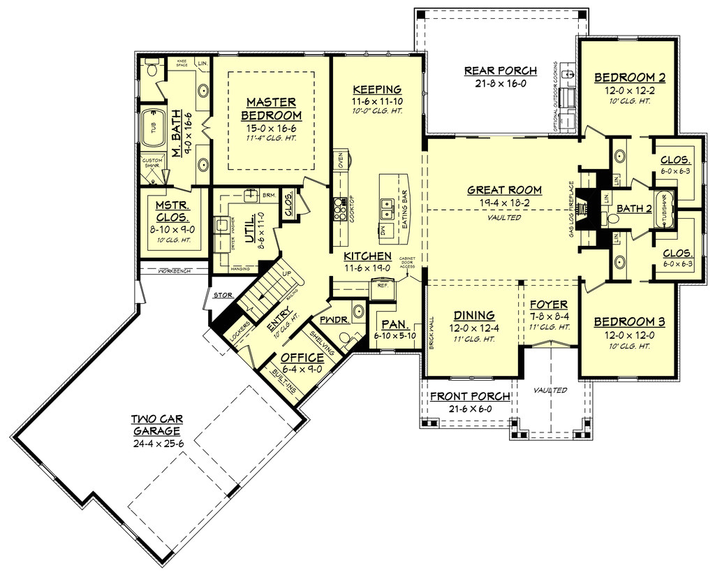 house plans master on main