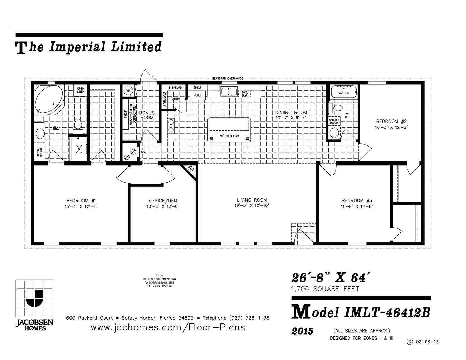 imlt 46412b mobile home floor plan