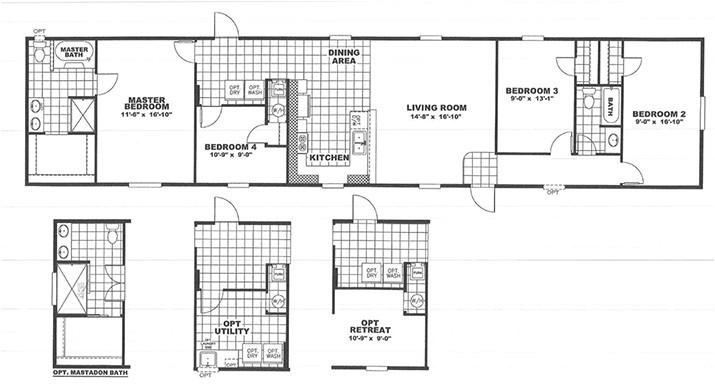 3 bedroom 2 bath 5 18x84