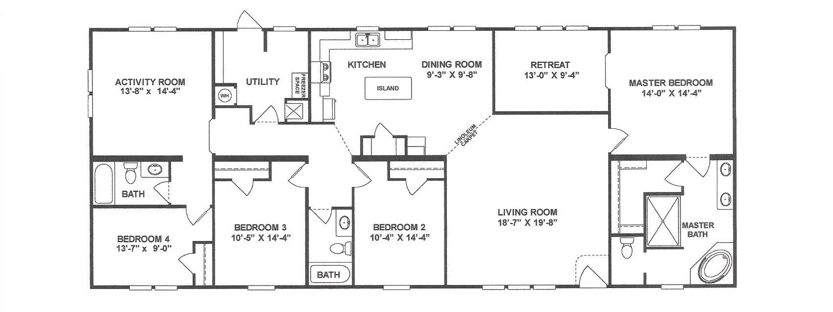 4 bedroom 3 bath 32x78 11 schult homes