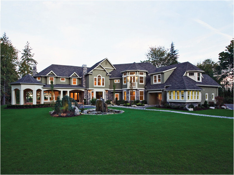 Massive House Plans Lydelle Luxury Craftsman Home Plan 071s 0050 House Plans