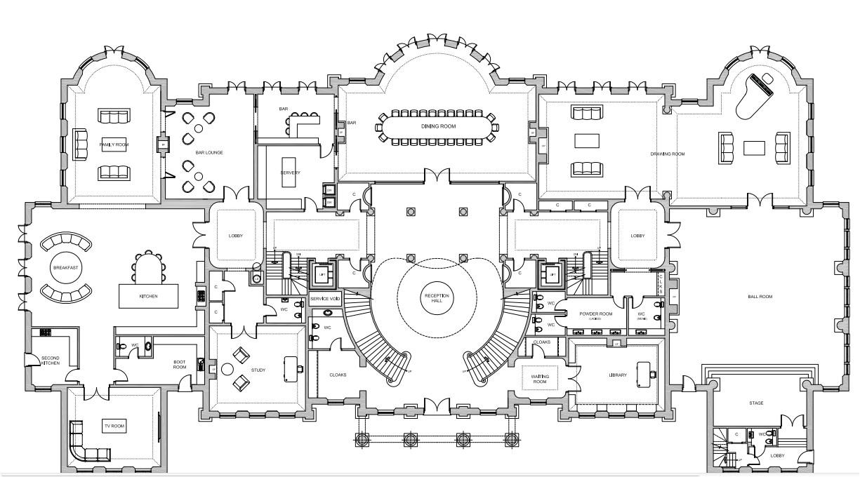 56000 square foot proposed mega mansion in berkshire england