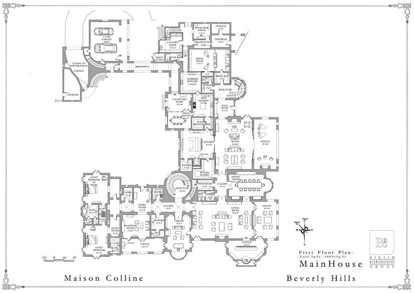 mega mansion floor plans