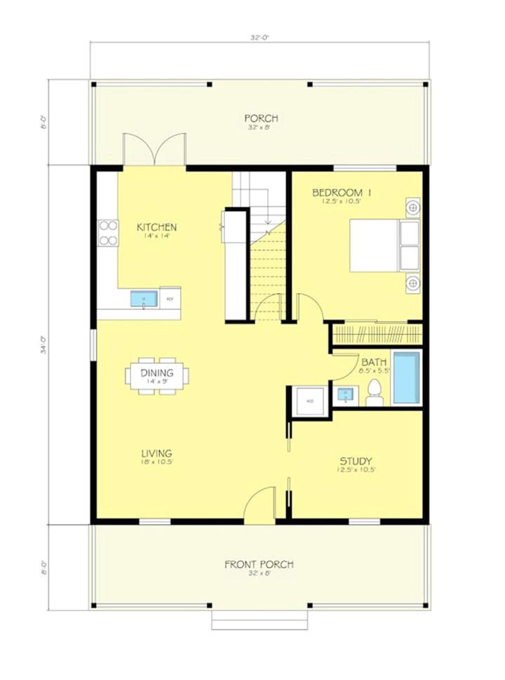 metal building cottage house for comfy living free blueprint plans