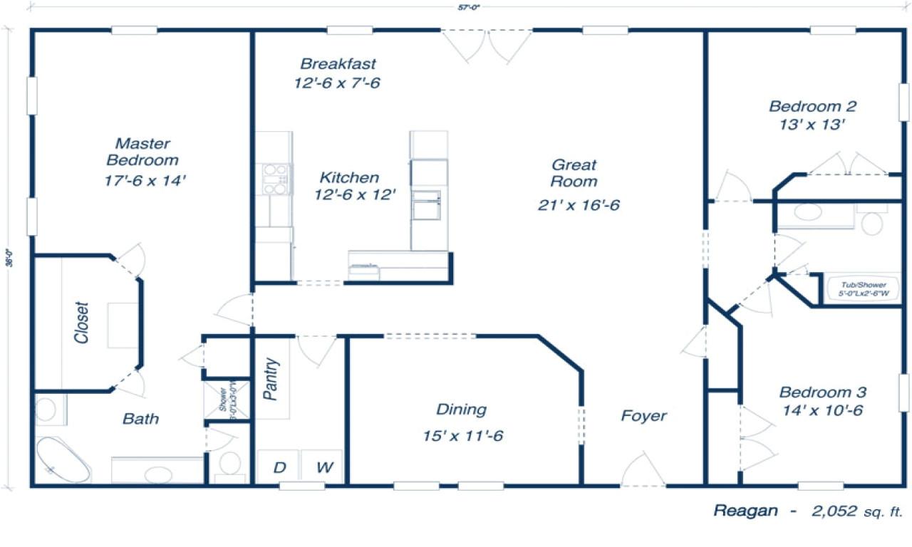 metal house floor plans