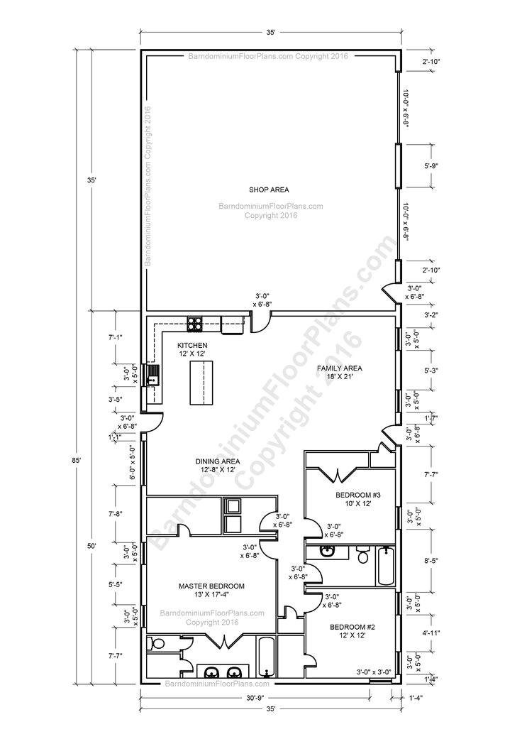 Metal Shop Homes Floor Plans 2615 Best Images About Pole Barn Designs On Pinterest