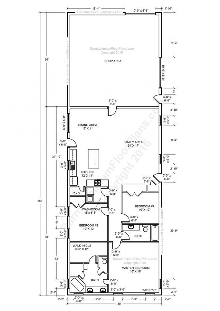 metal building floor plans for homes metal shop house plans