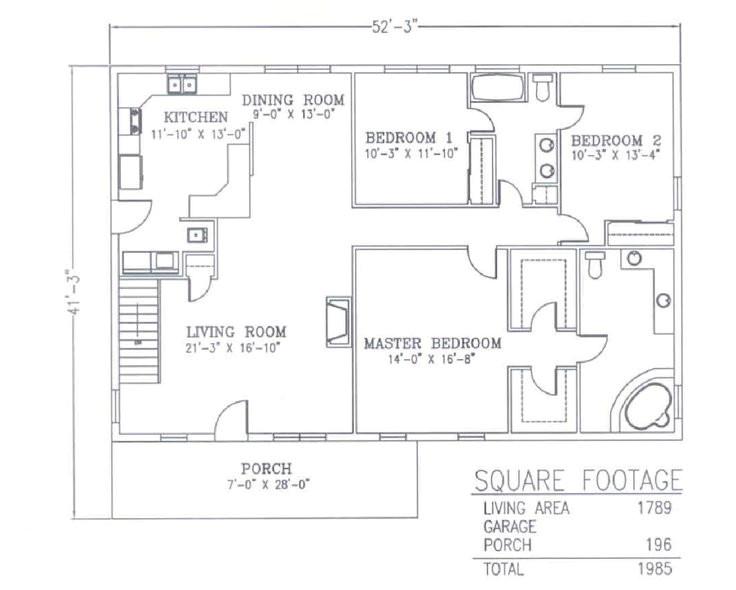 metal shop with living quarters floor plans