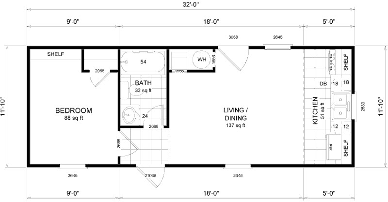 Micro Compact Home Floor Plan Micro Home Floor Plans Small House Plans 24034