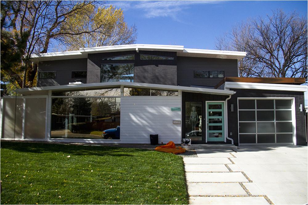 mid century modern homes floor plans garage