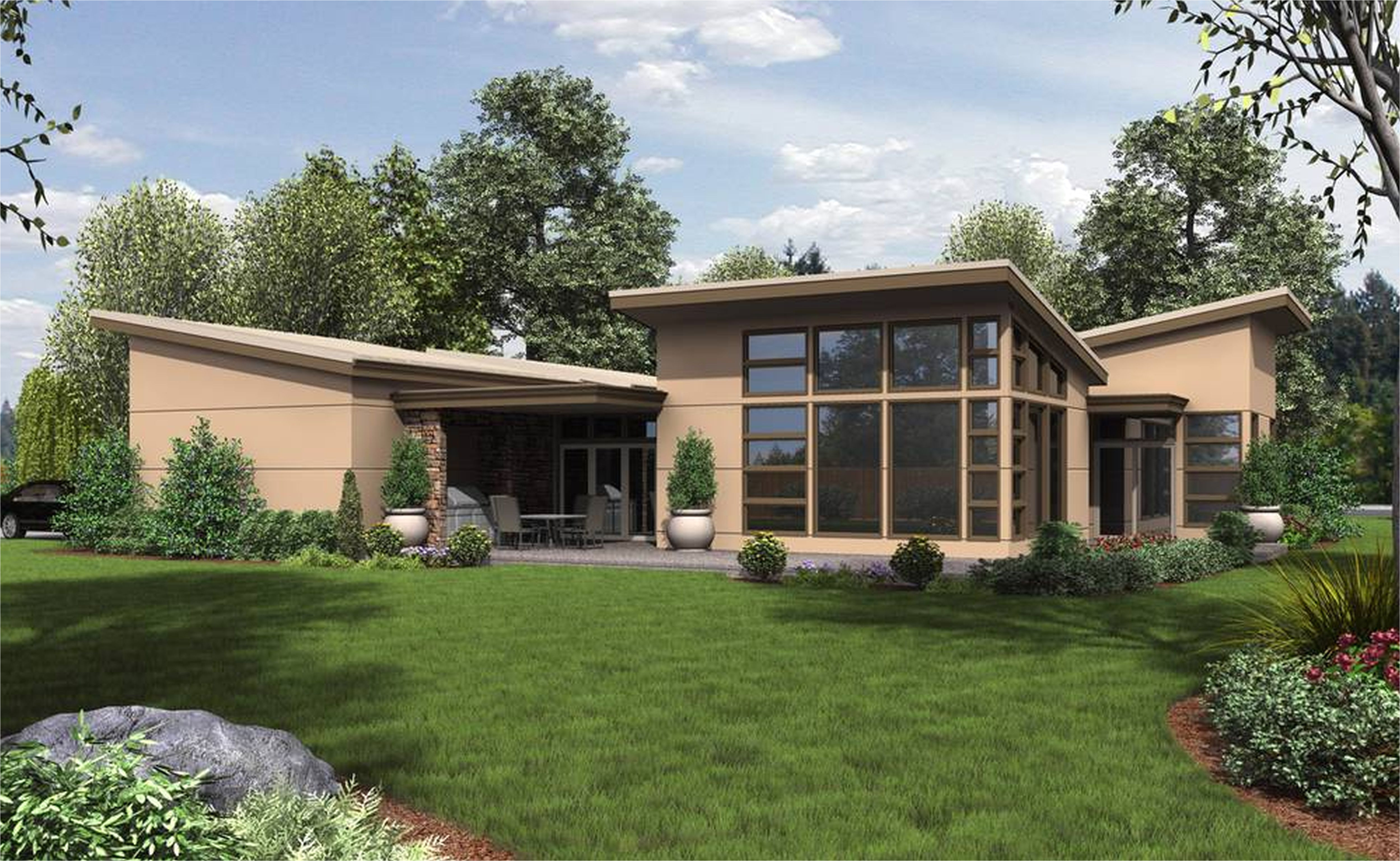 mid century modern homes plans gallery