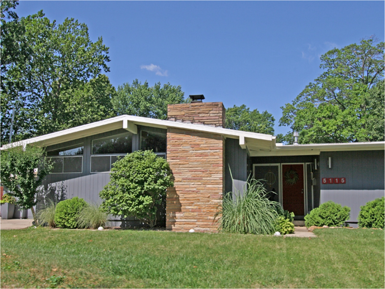 mid century modern homes plans picture