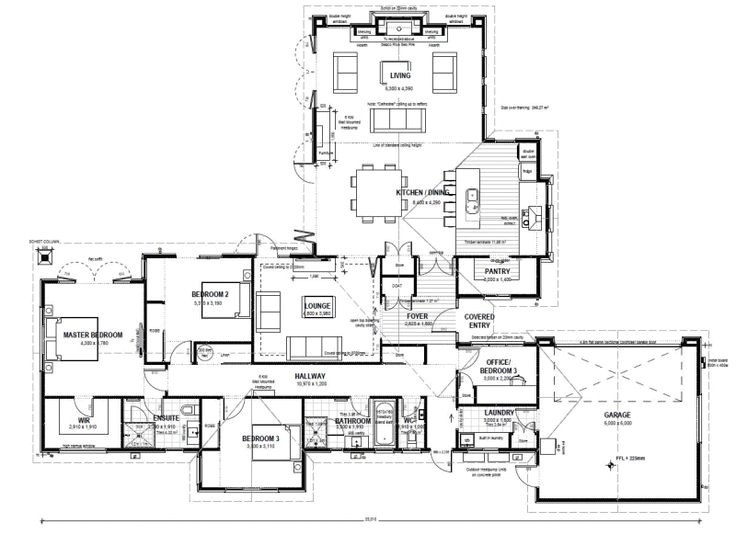l shape house plans