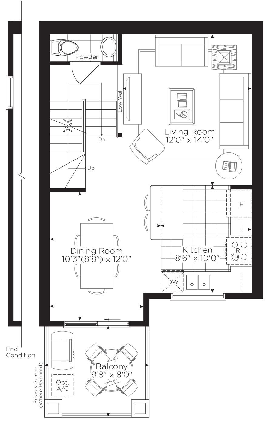 minto terrace home floor plan