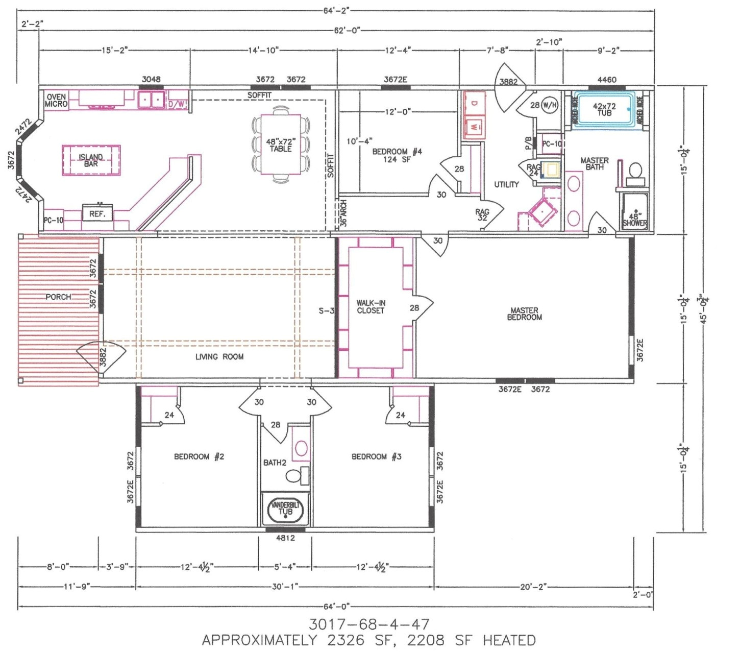 10437 triple wide mobile home floor plans georgia