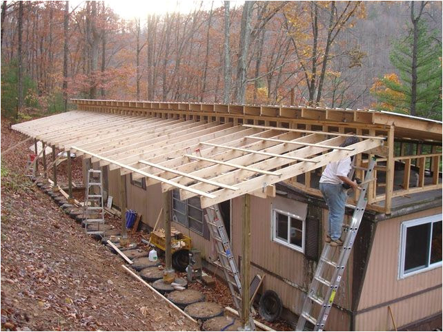diy mobile home roof over