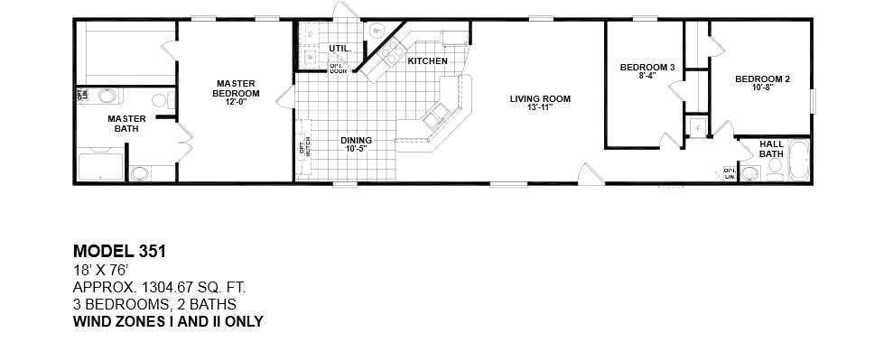 single wide mobile home floor plans