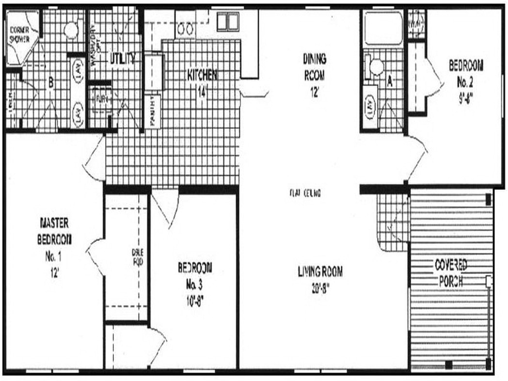 double wide manufactured homes floor plans 550749