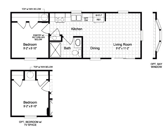Mobile Tiny Home Floor Plan Inspirational Small Mobile Home Floor Plans New Home