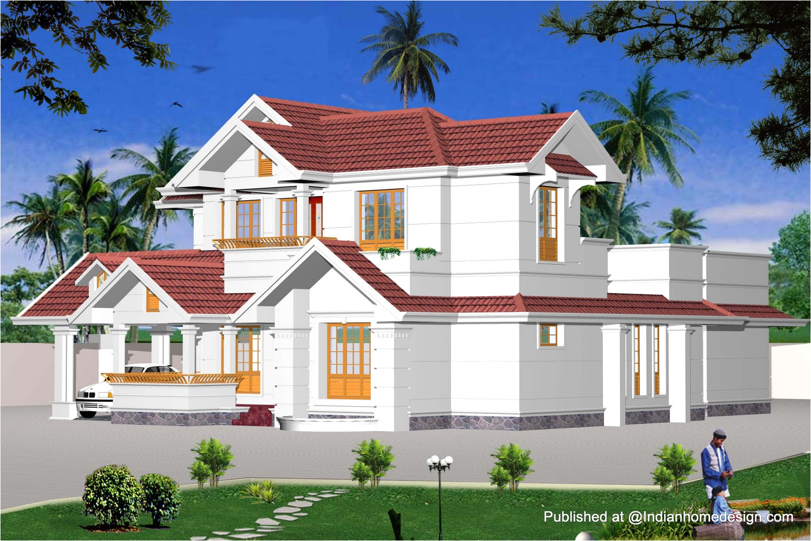 home design house plans withal indian model house plans exterior views home design inspiration