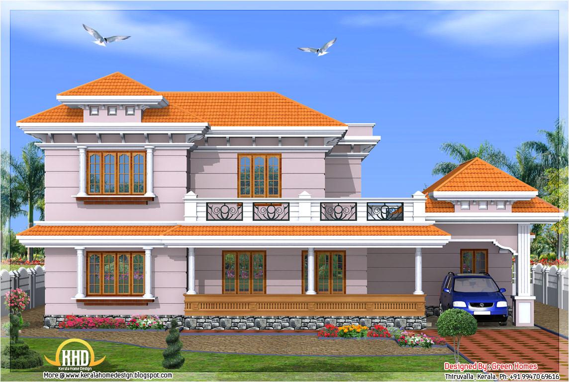 kerala model 2500 sqft 4 bedroom home