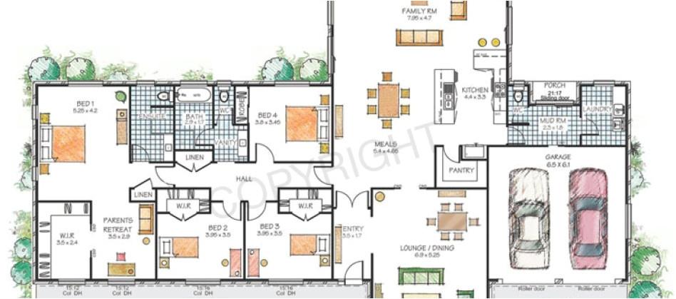 modern family house floor plans