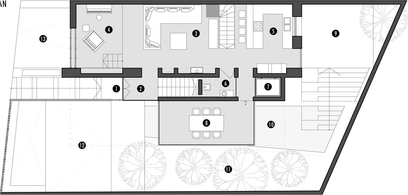 second modern family house floor plan