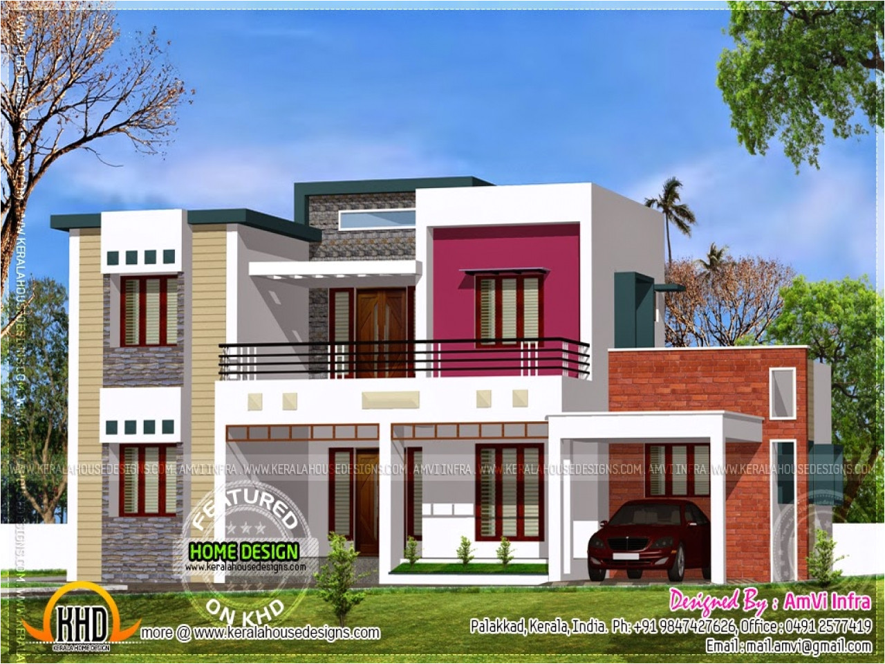 contemporary modern house plans with flat roof