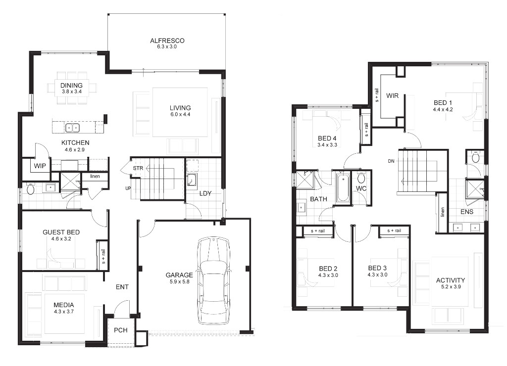ultra modern house floor plans ideas