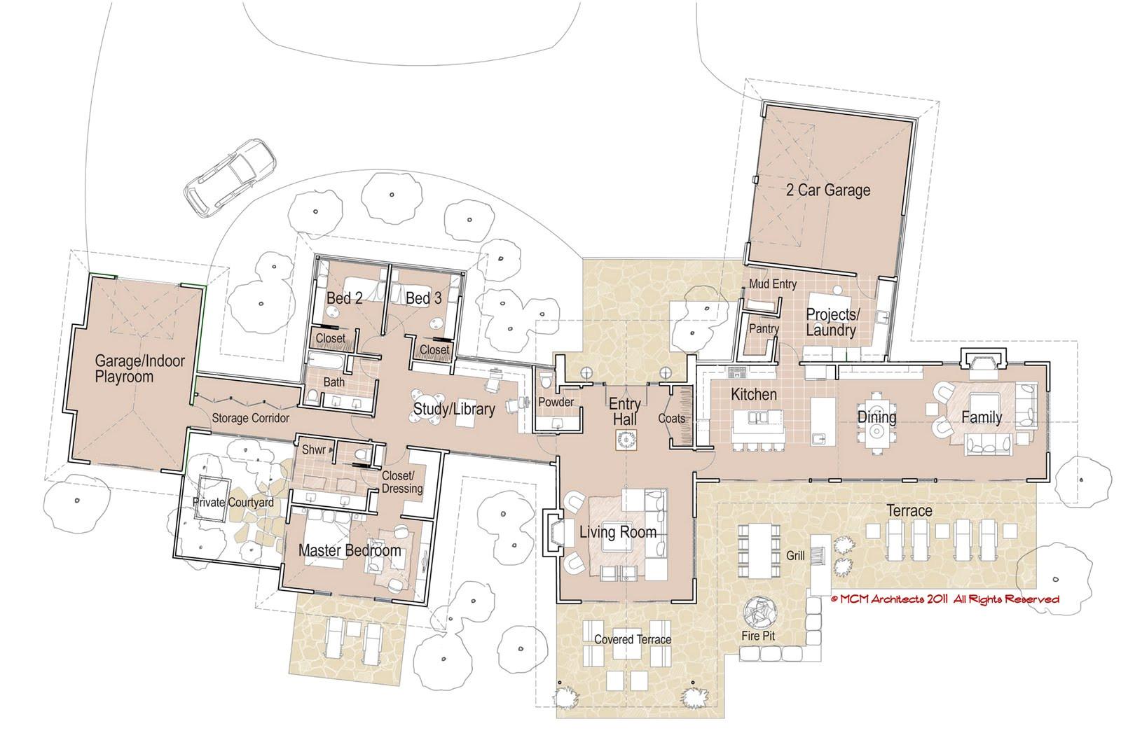 large modern house plans ideas