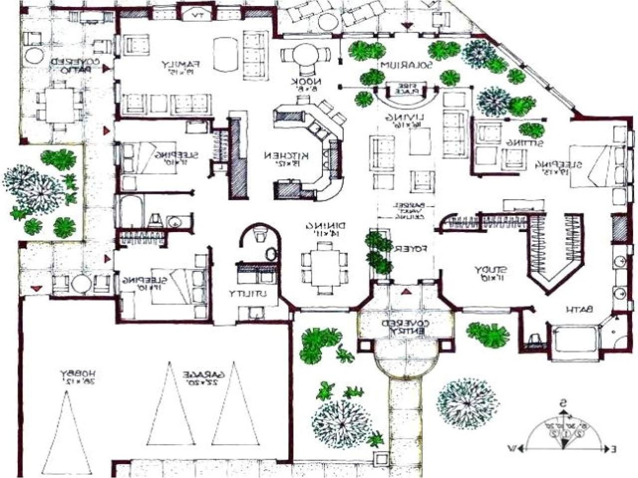 modern mansions floor plans