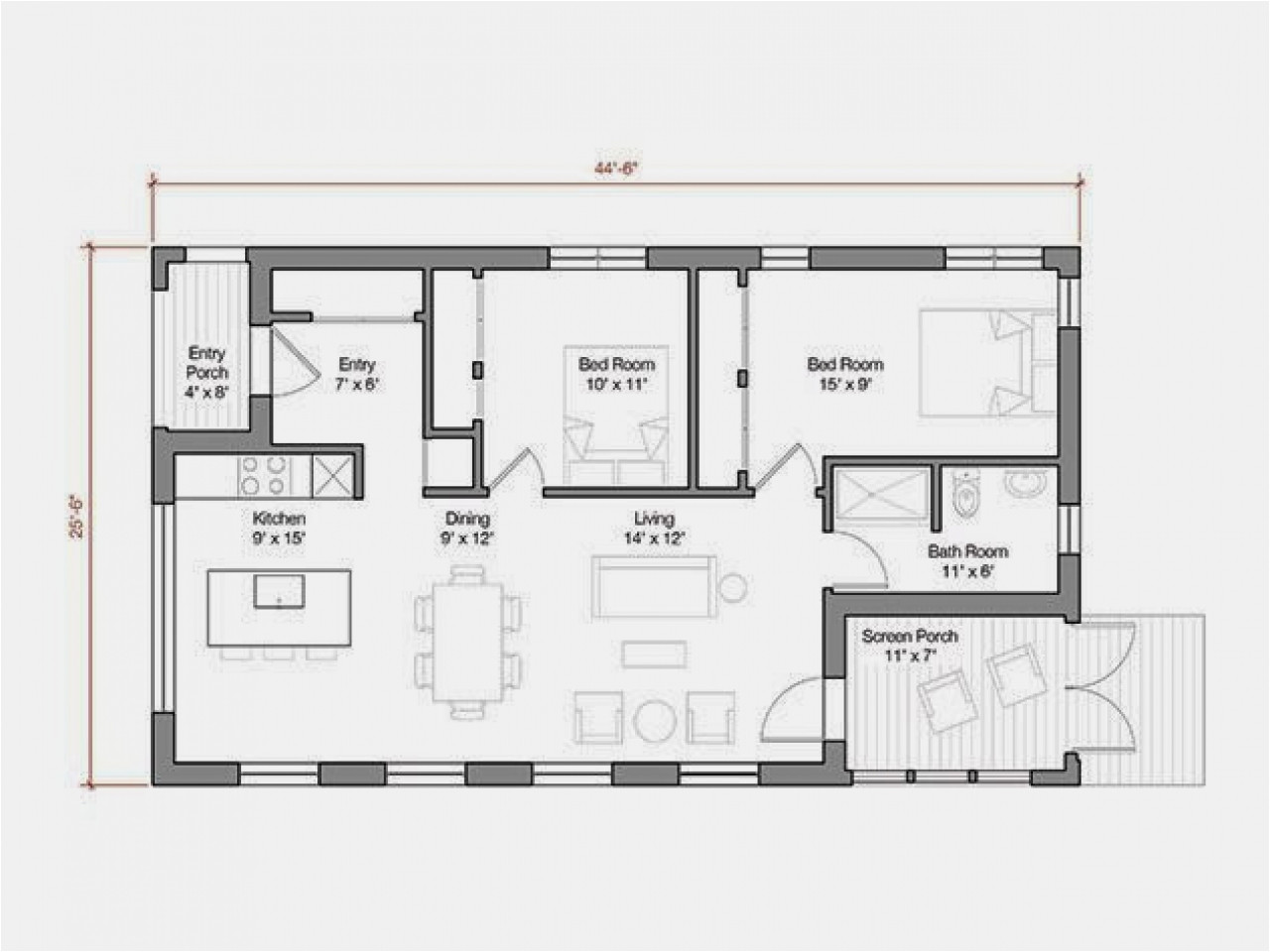 1000 square foot house plans modern