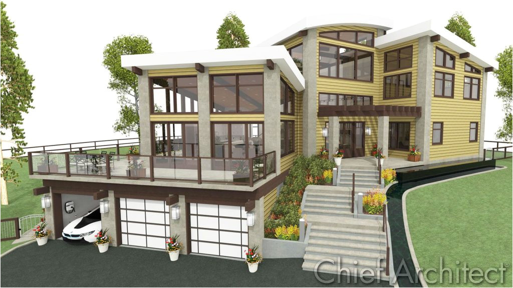 modern house plans with lots of windows elegant amusing front sloping lot house plans 37 for elegant design with
