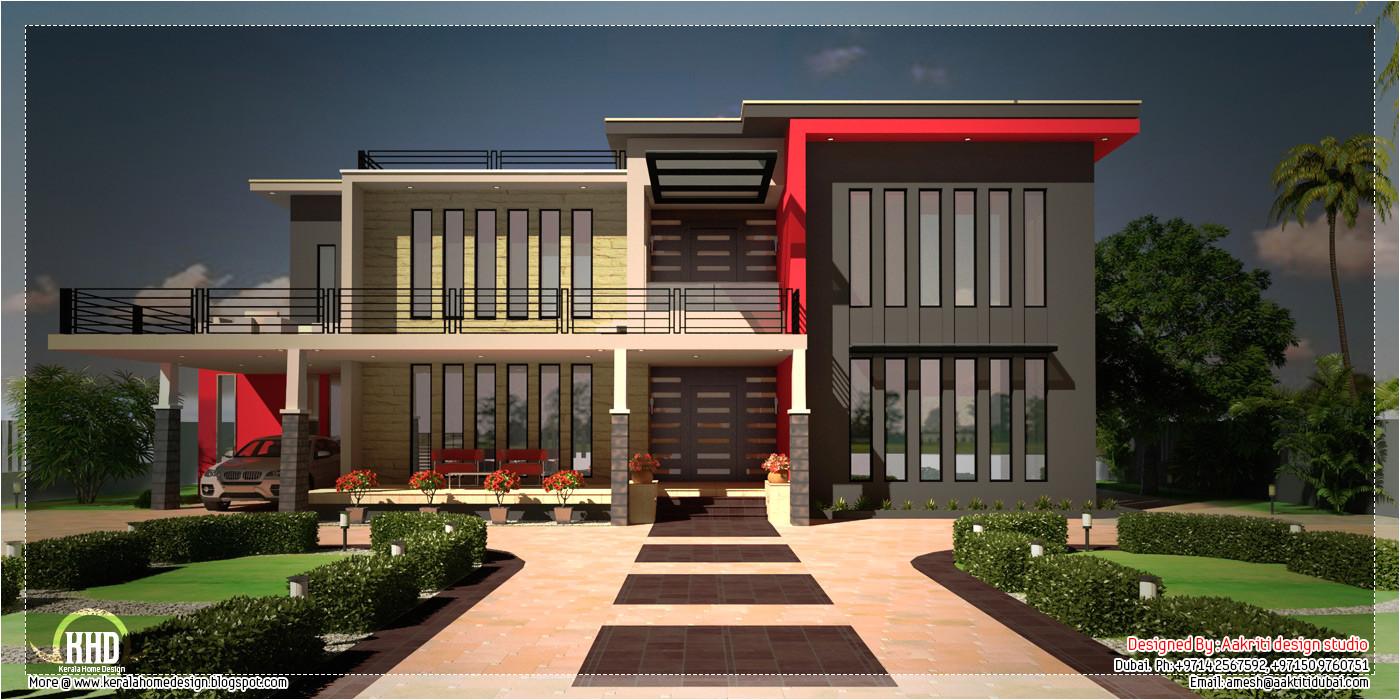 contemporary villa floor plan