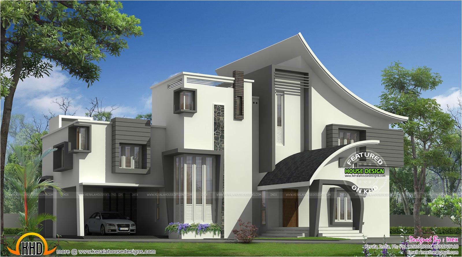 ultra modern luxury home in kerala