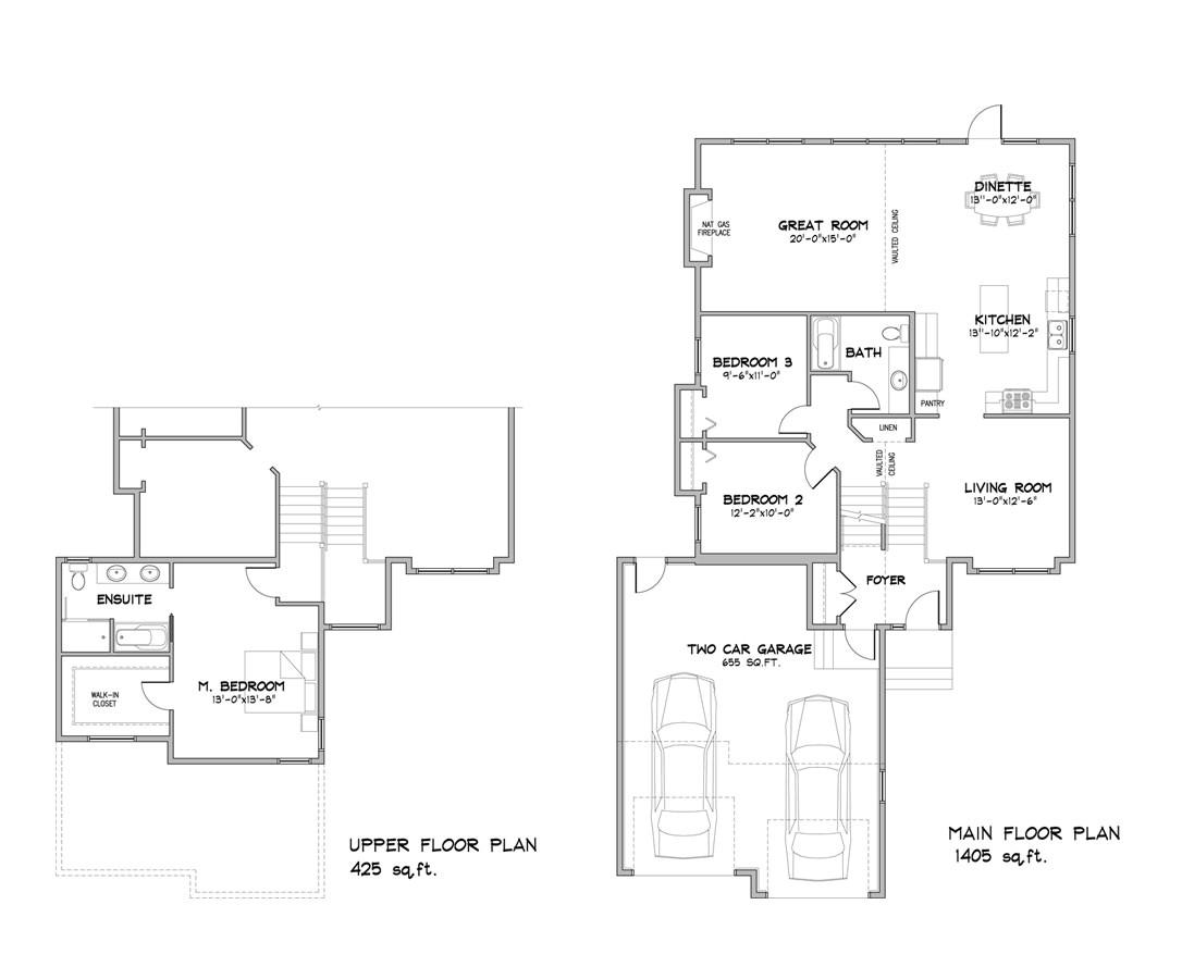 modified bi level home plans