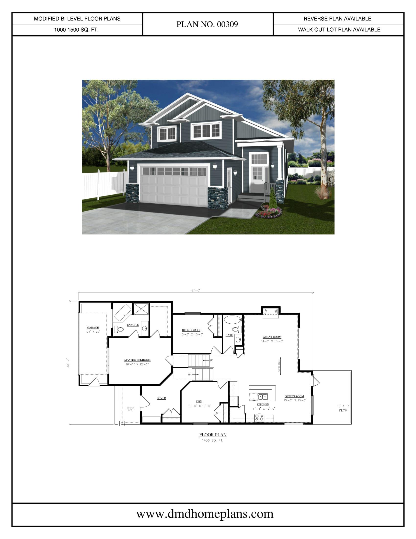 modified bi level house plans